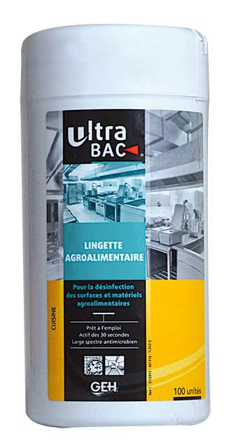 ULTRA BAC LINGETTES ALIMENTAIRE DESINF. x100