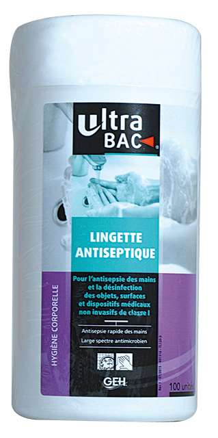 ULTRA BAC LINGETTES MEDICALES DESINF. x100